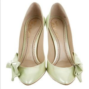 John Galliano Cute Side Bow Soft Lime Patent Pumps